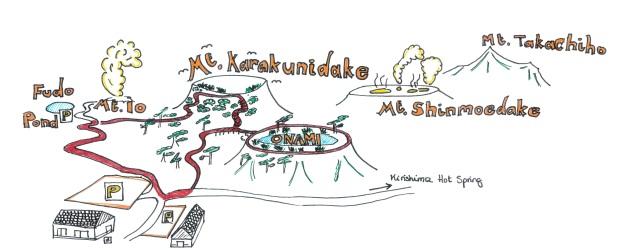 Kirishima National Park map